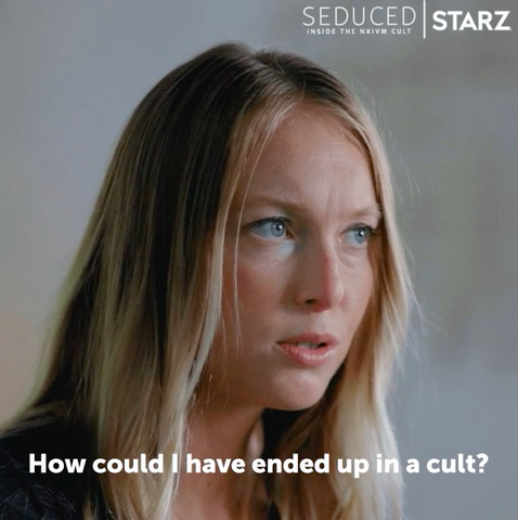 """Person saying """"how could I have ended up in a cult"""""""