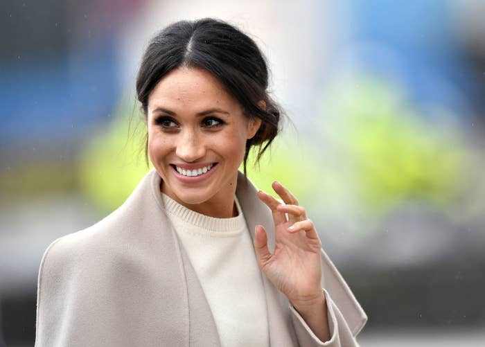 Meghan Markle is seen ahead of her visit with Prince Harry to the iconic Titanic Belfast during their trip to Northern Ireland