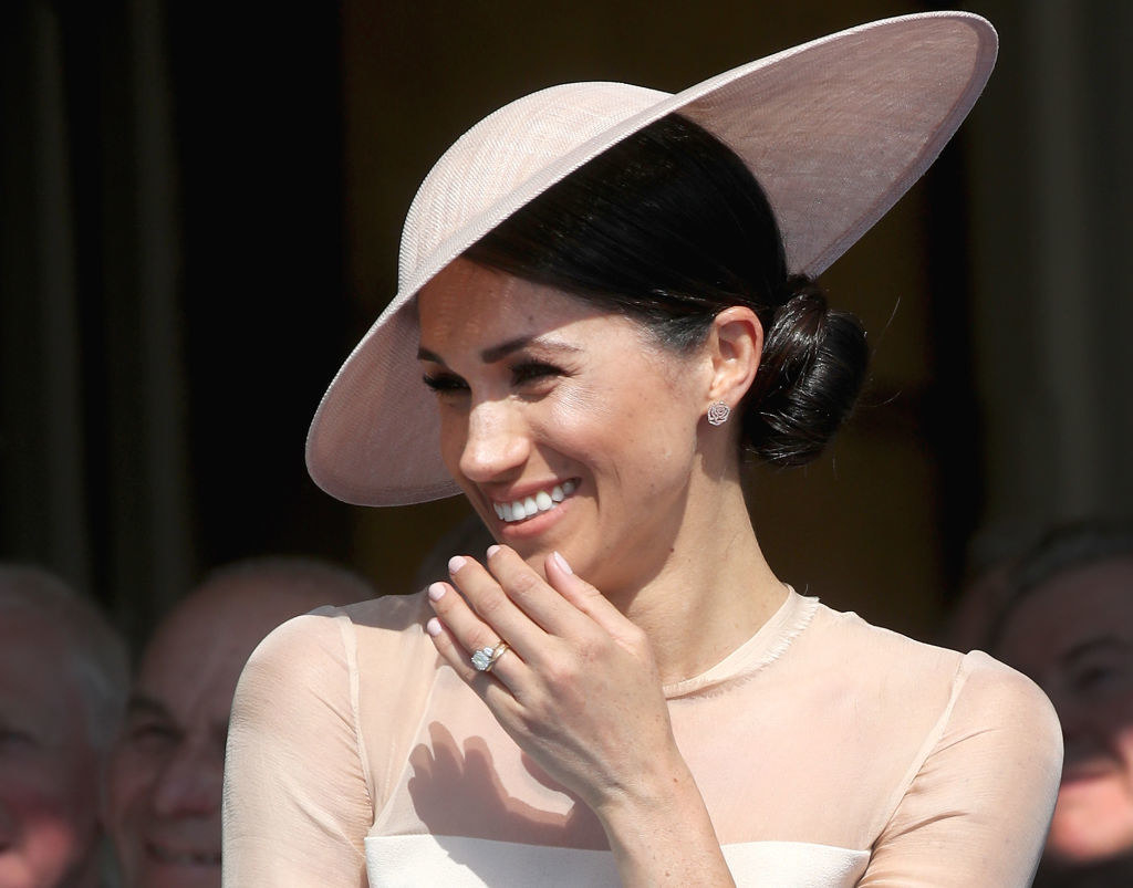 Meghan Markle attends The Prince of Wales' 70th Birthday Patronage Celebration, held at Buckingham Palace