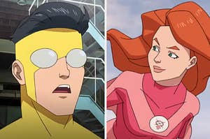 """Mark and Atom Eve from """"Invincible"""""""