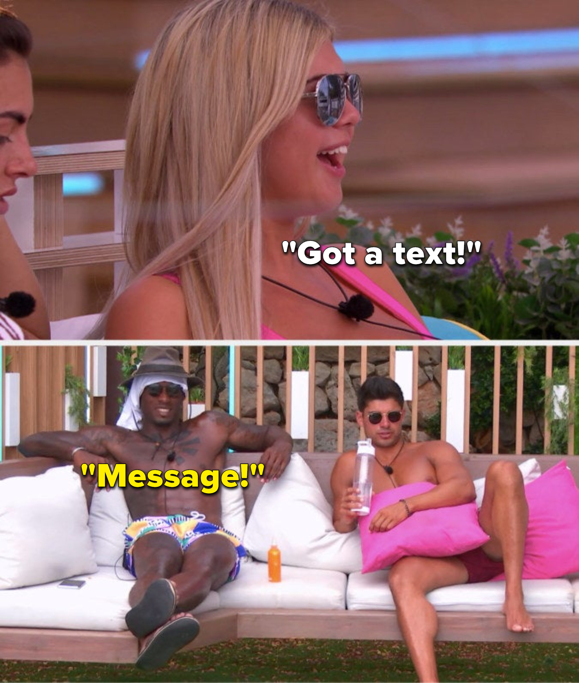 """Belle says, """"Got a text,"""" and Ovie says, """"Message"""""""