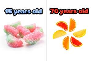 酸贴斑点西瓜标记为15,果实果冻切片标记为70
