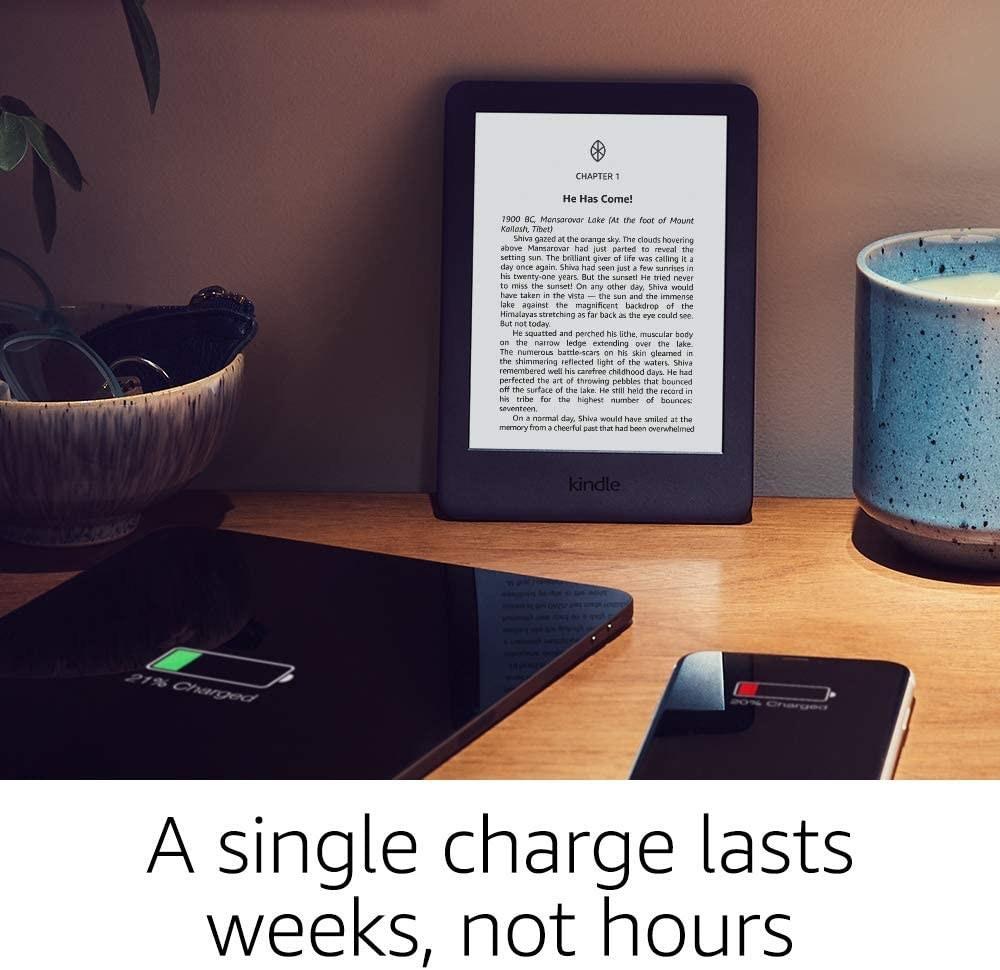 An Amazon Kindle on a table