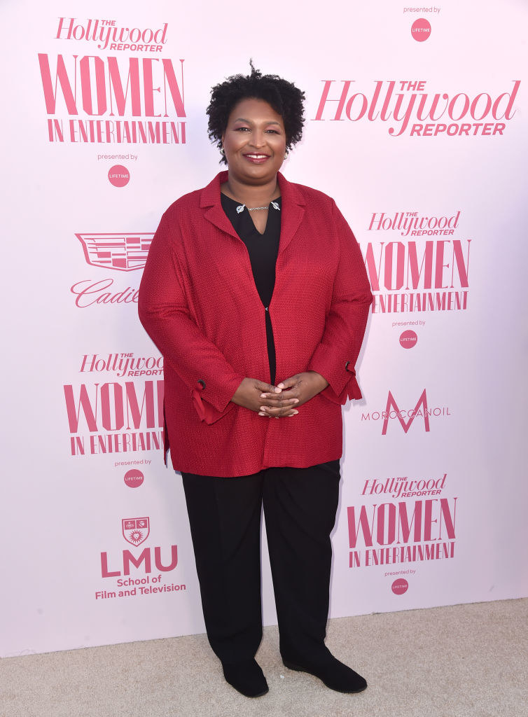Stacey Abrams attends The Hollywood Reporter's Power 100 Women in Entertainment