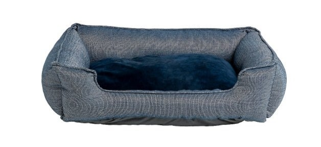 The chambray cuddler bed in blue