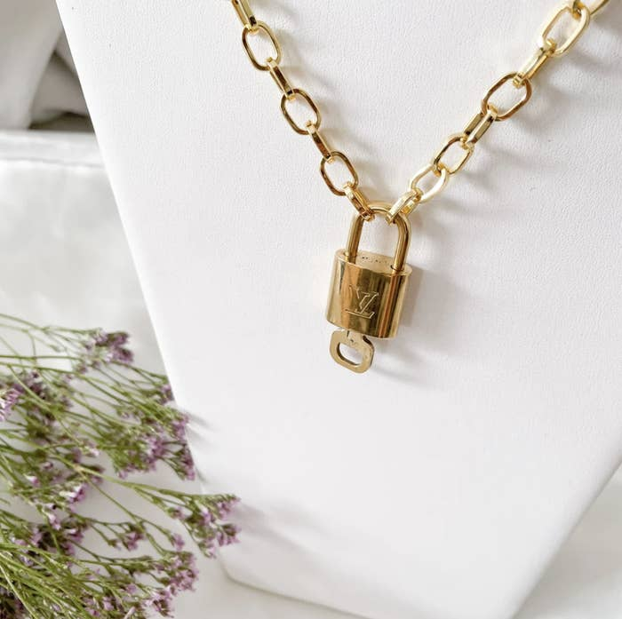 the necklace on a chain