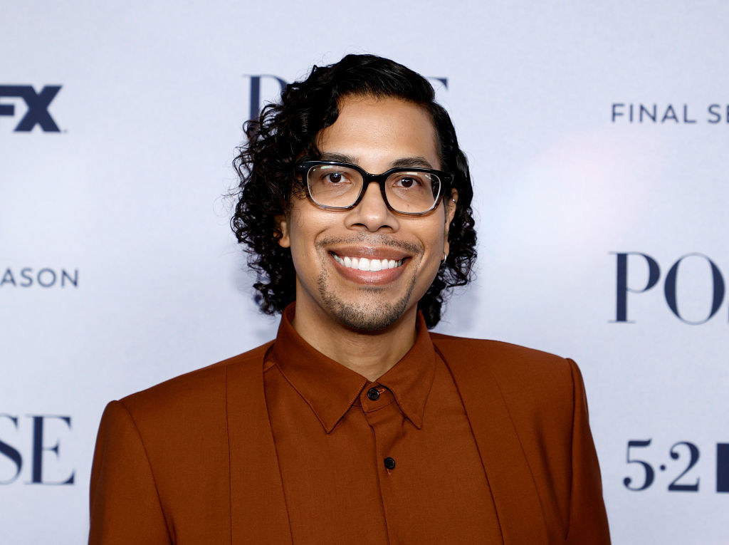 Steven Canals on a red carpet