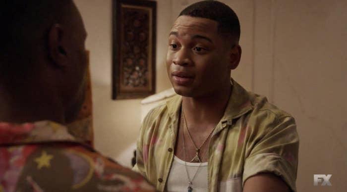 Damon talking to Pray Tell