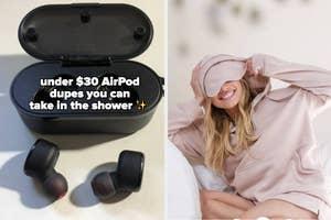 headphones and hoodie