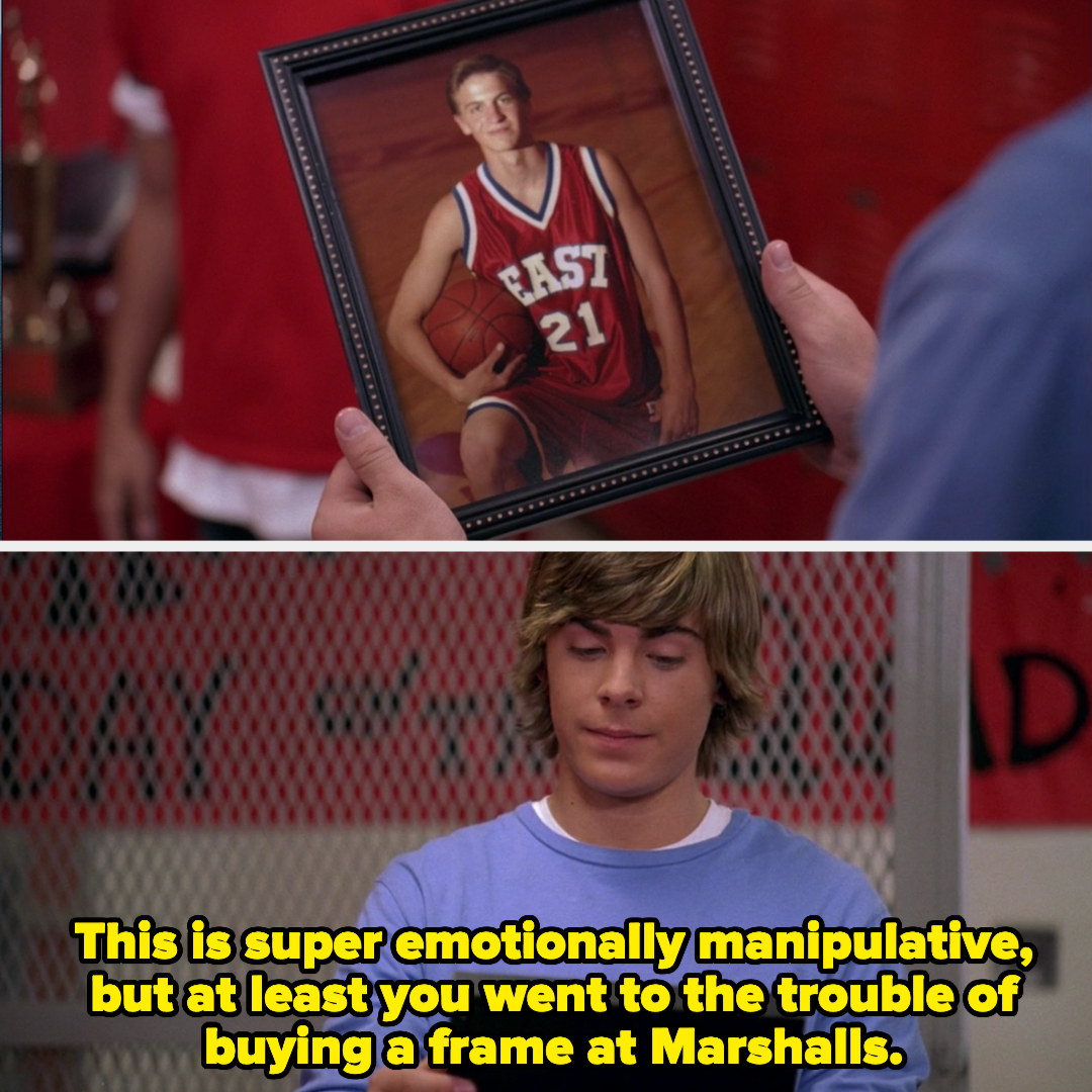 Troy's team gives him a picture of his Dad
