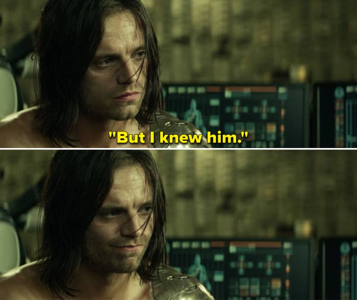 """Bucky saying, """"But I knew him"""""""