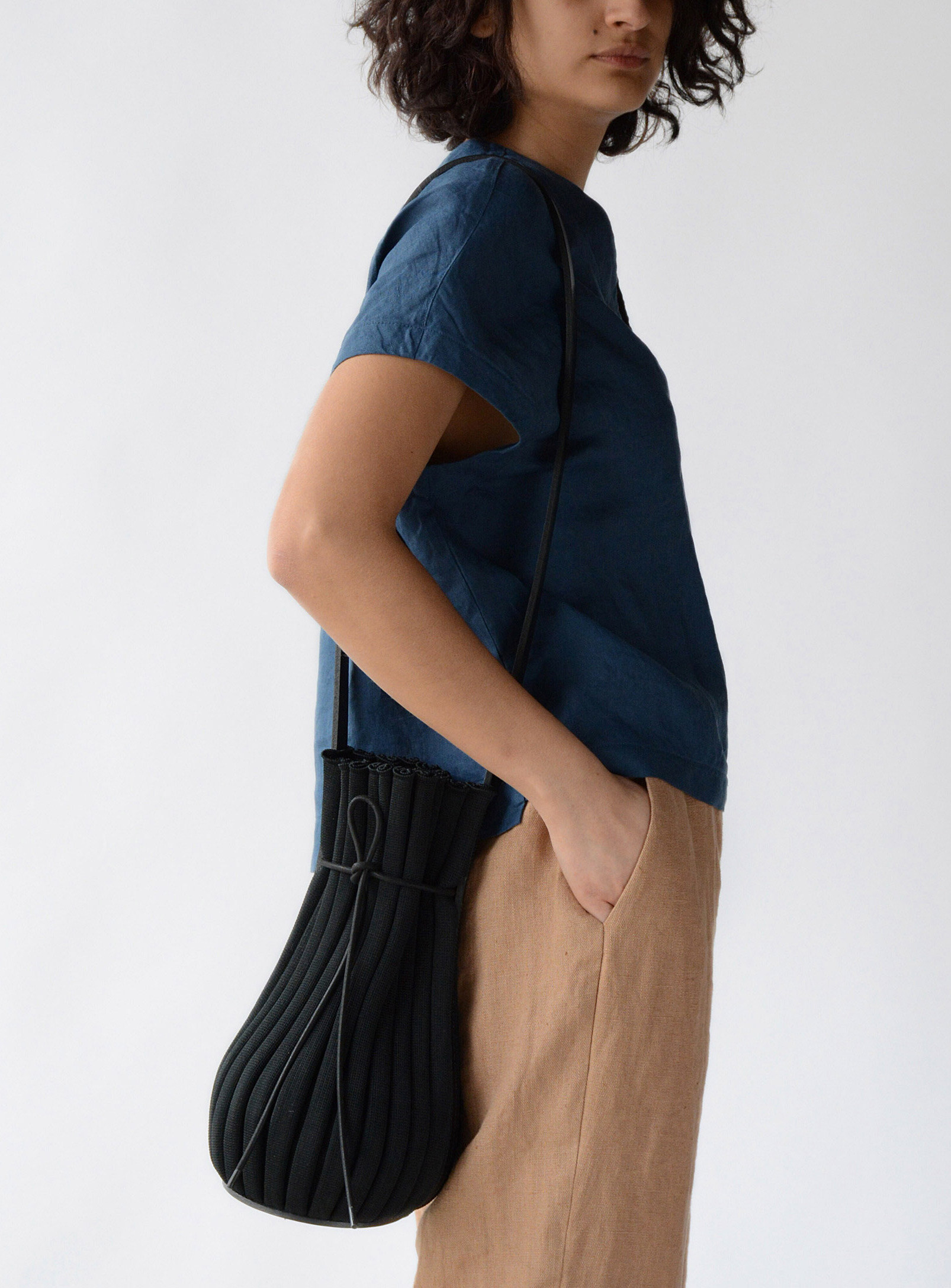 person wearing the bag