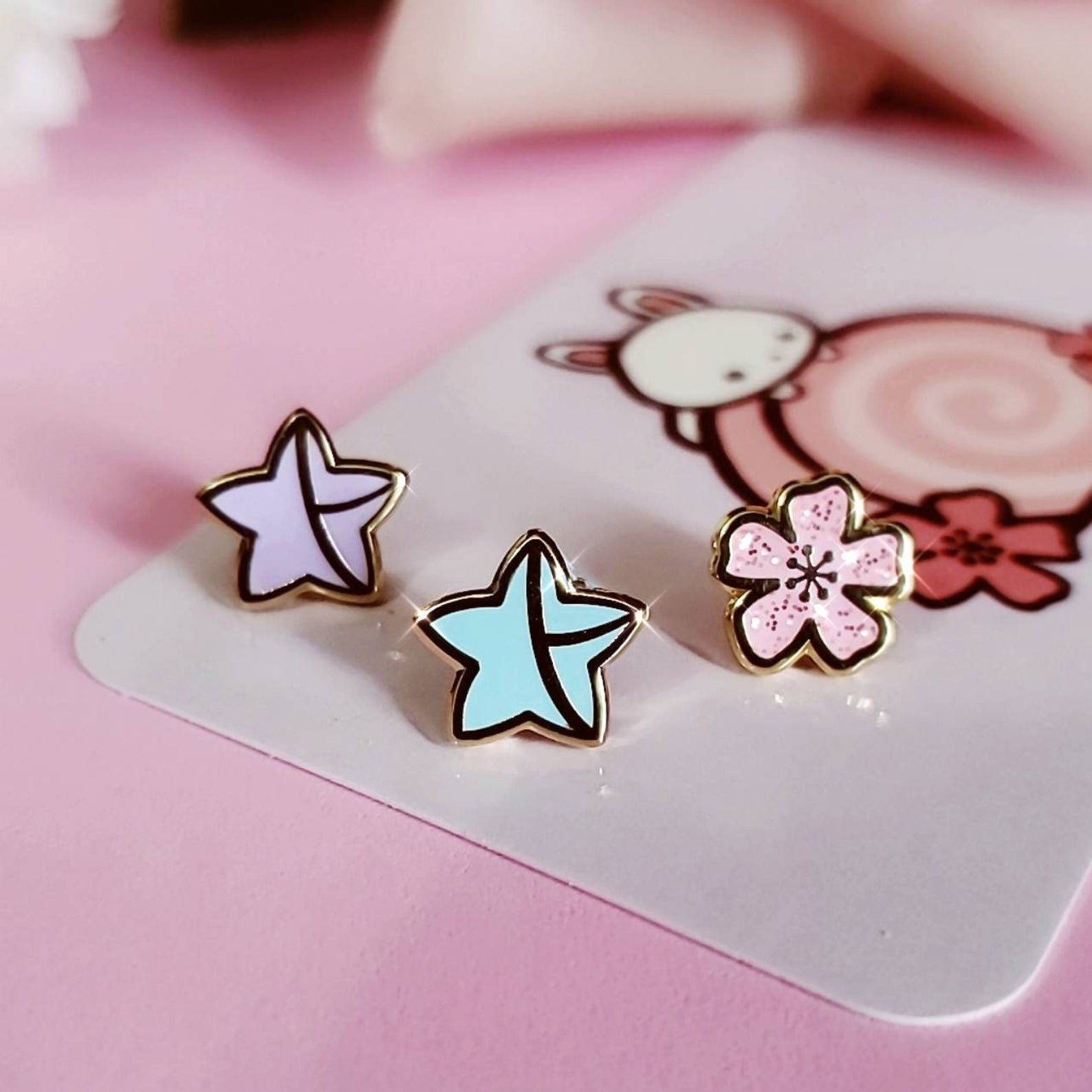 the pins