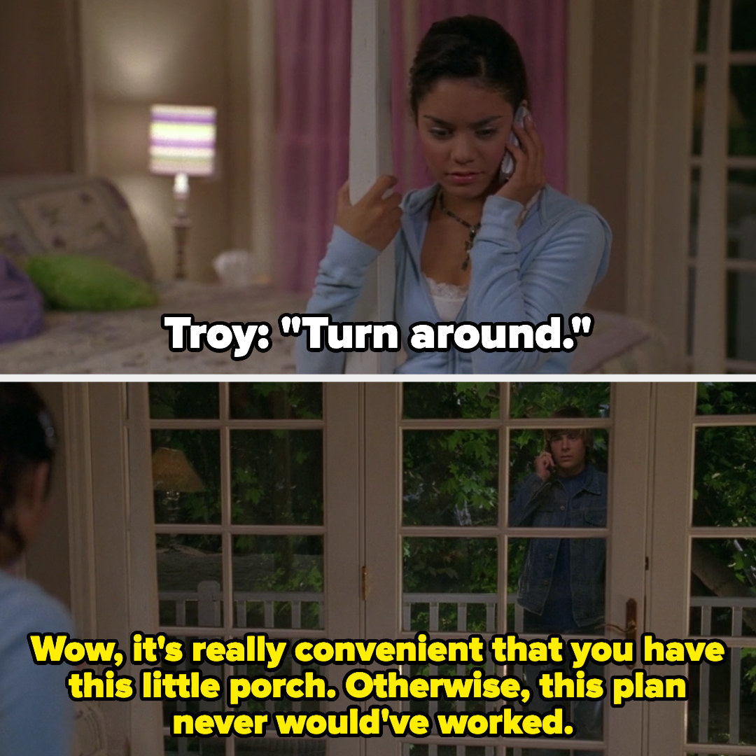 Troy surprises Gabriella by showing up on her little porch