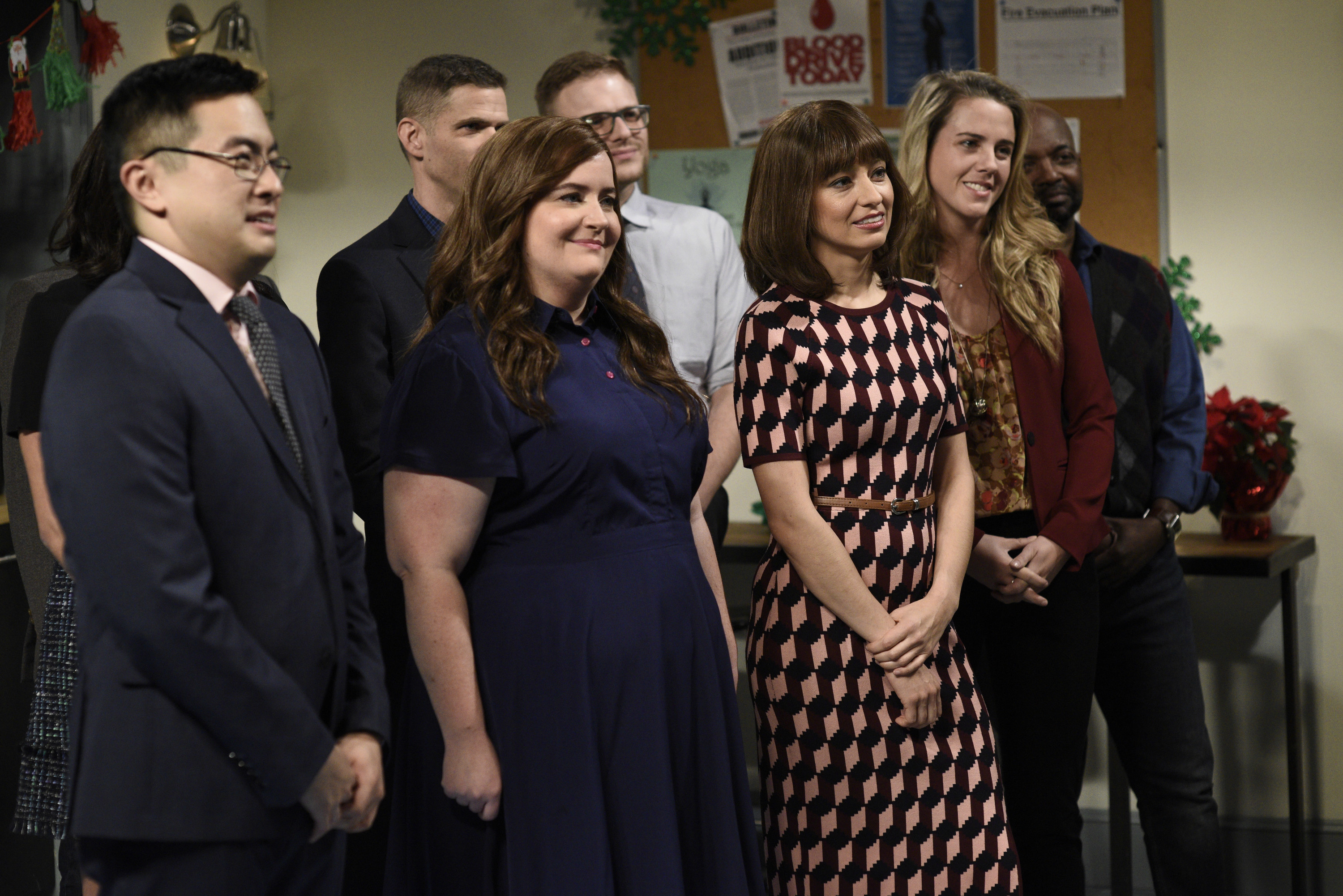Aidy and Bowen appear in a sketch together