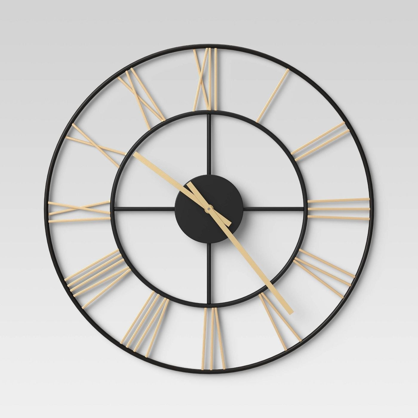 A black and gold clock in a home