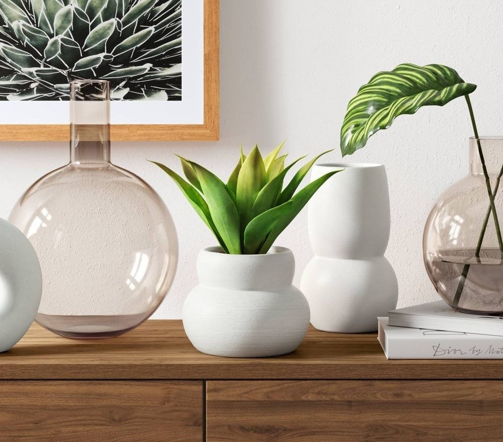 A few vases in a home