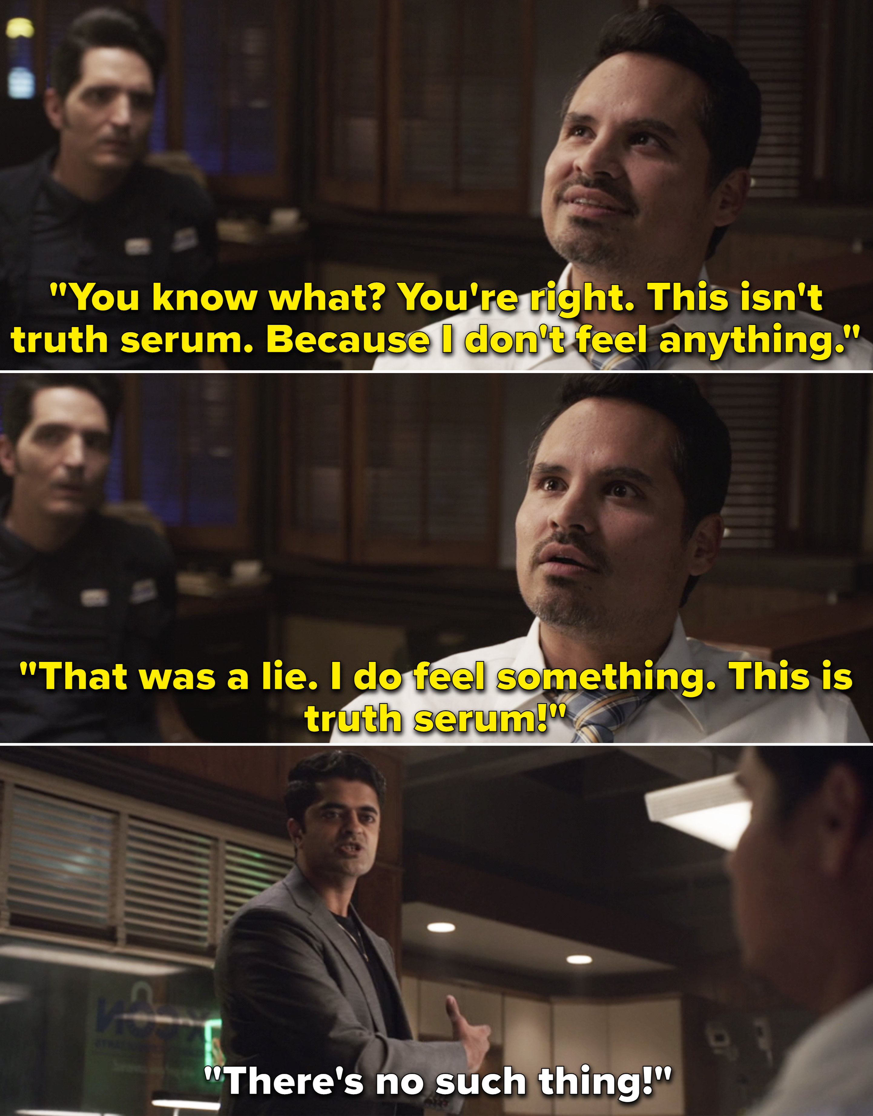 Luis saying this must be truth serum because he just lied