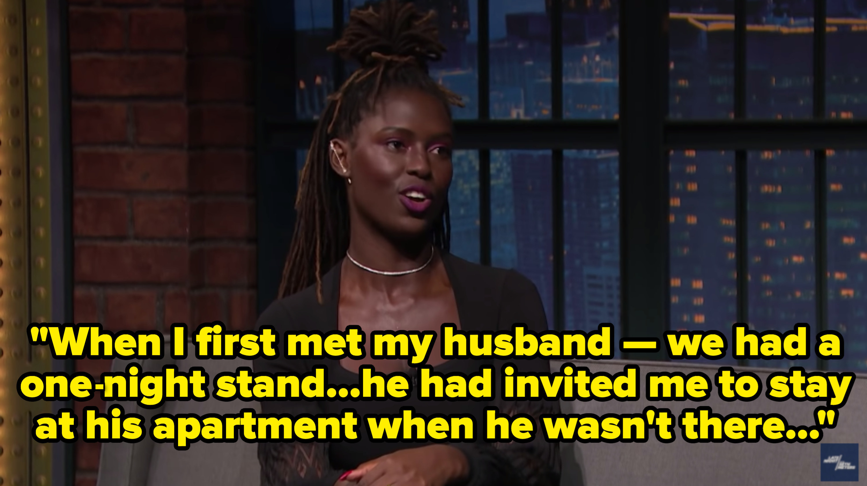 Jodie Turner-Smith on Late Night With Seth Meyers