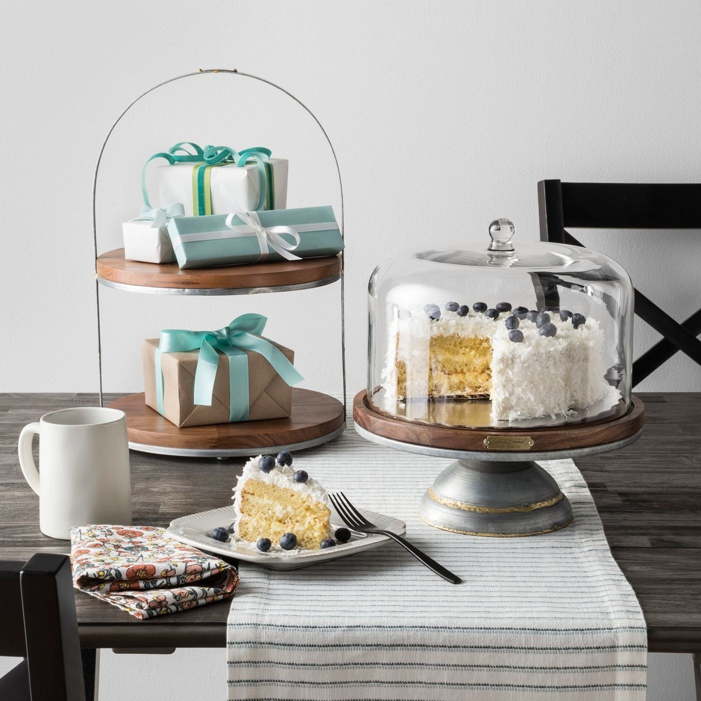 A cake stand in a home