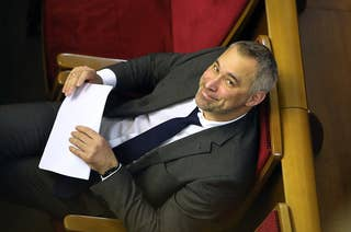 Rouslan Riaboshapka, Ukraine's former top prosecutor, in the country's parliament in 2019.