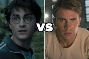 Daniel Radcliffe as Harry Potter in the movie