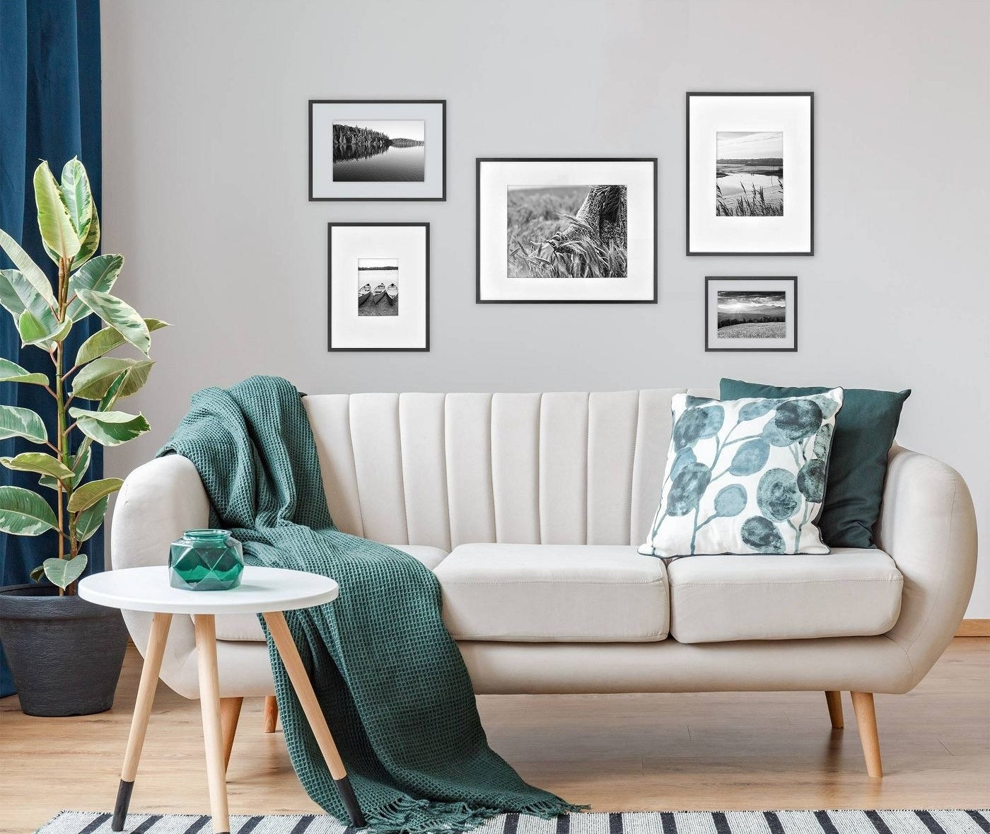 A home with a gallery wall