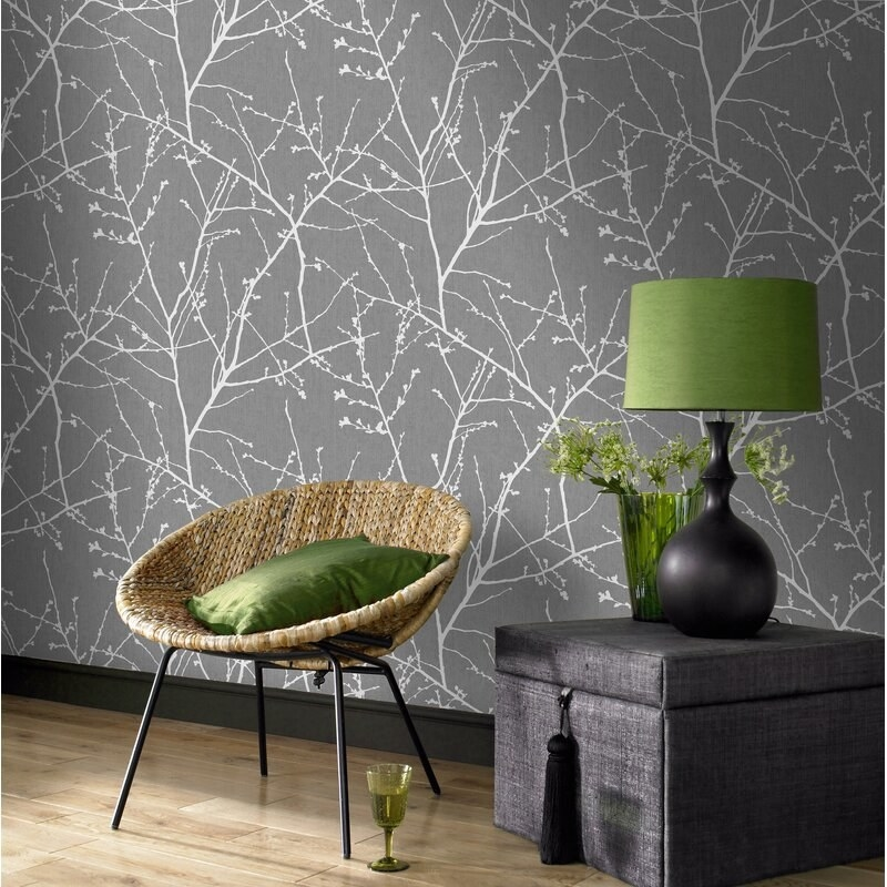 Non-pasted, decorative wallpaper that can be easily placed onto walls for a decorative effect