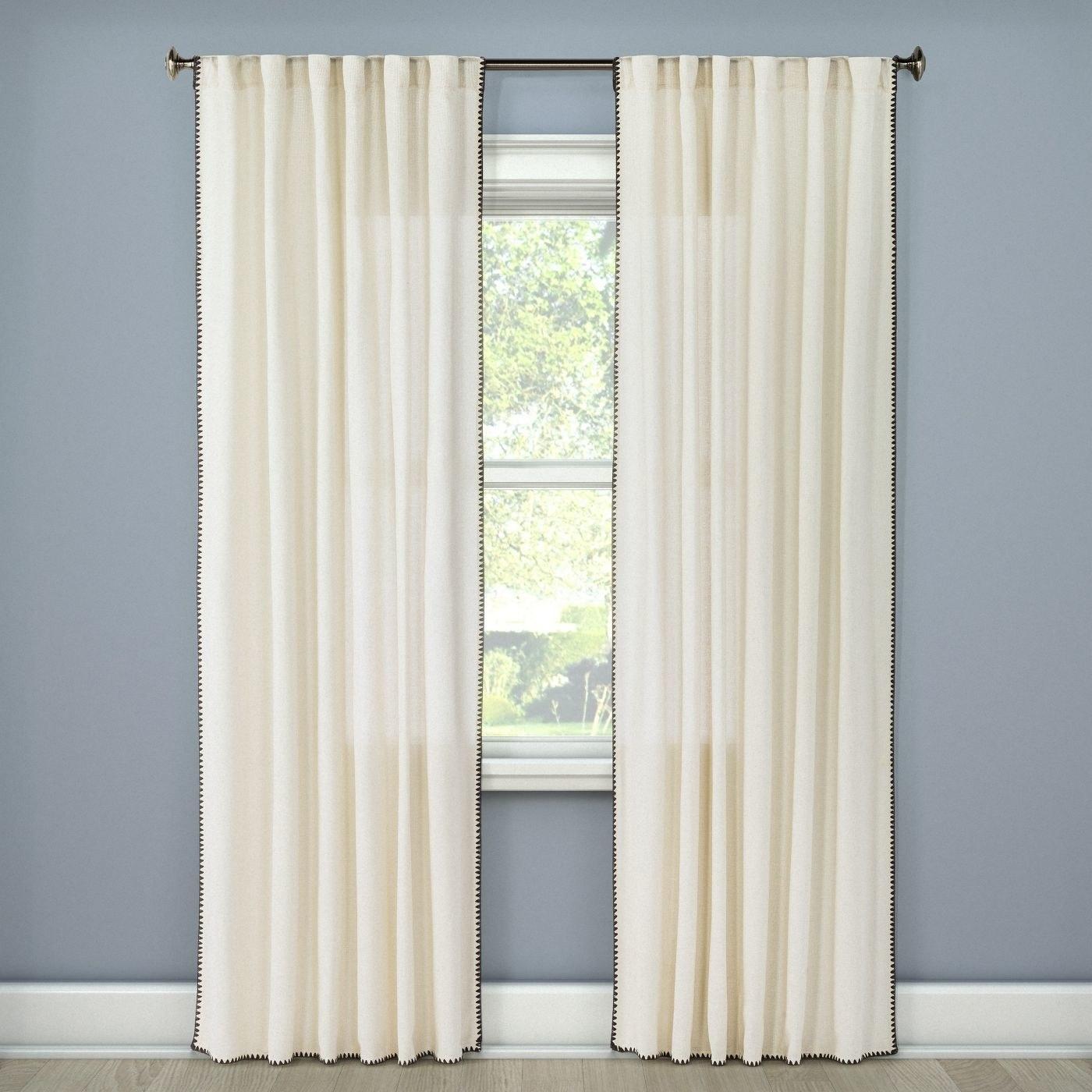 A white curtain in a home
