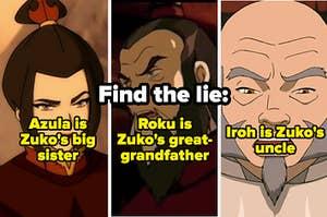 Azula, Avatar Roku, and Iroh