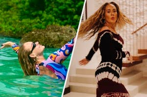 Adele swimming and dancing