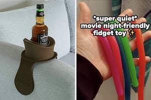 drink holder and fidget toy