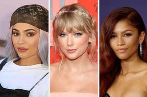 Kylie Jenner, Taylor Swift, and Zendaya