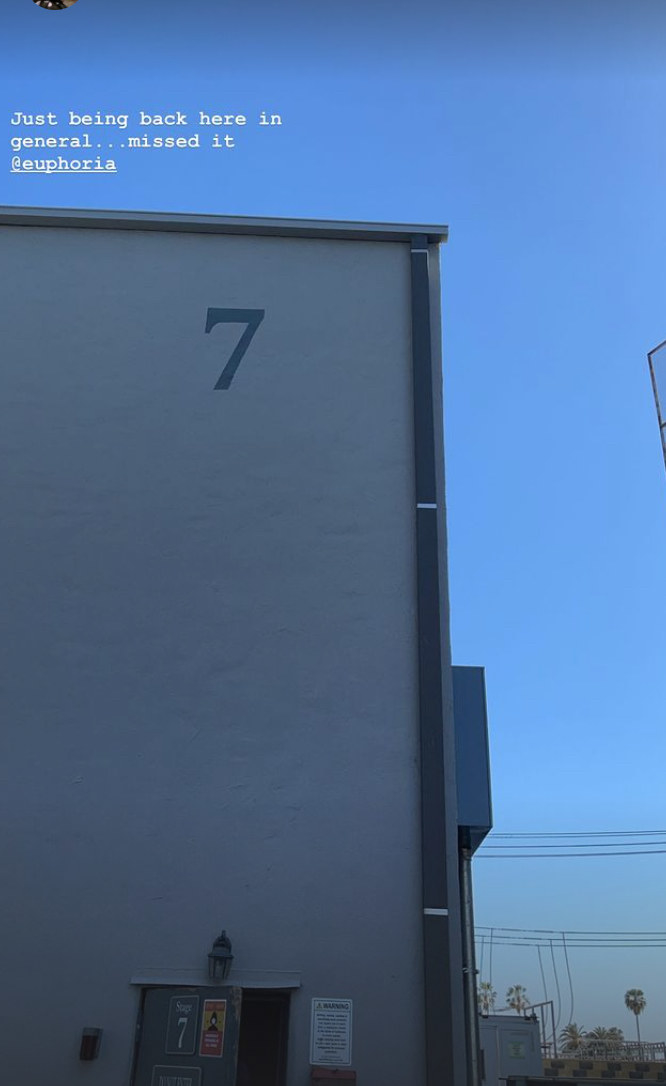 A photo of the soundstage that Euphoria films on