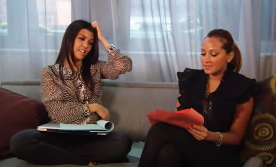 Adrienne helped Kourtney with acting coaching