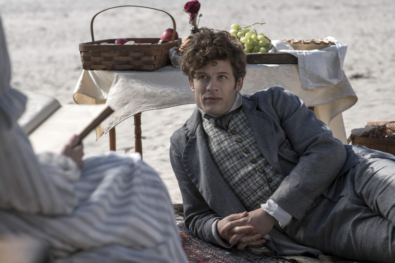James Norton on the beach in Little Women