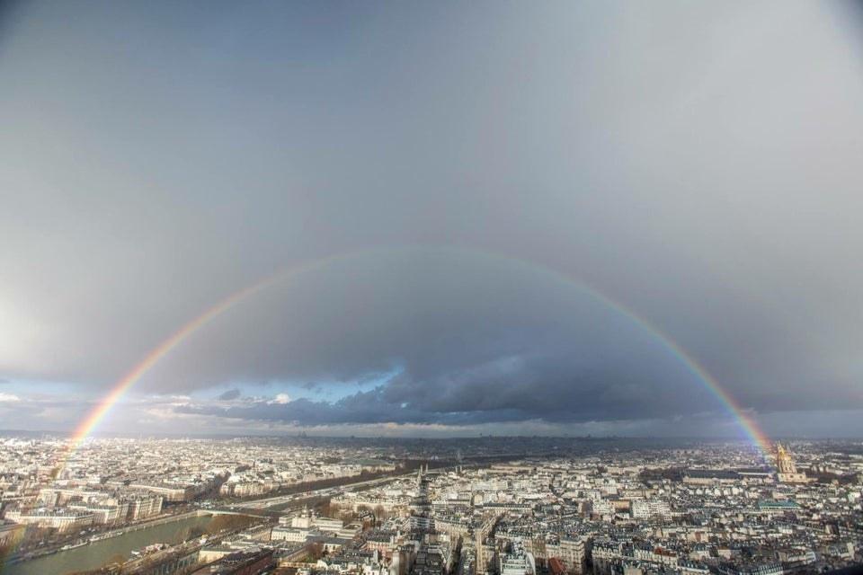 A rainbow over Paris