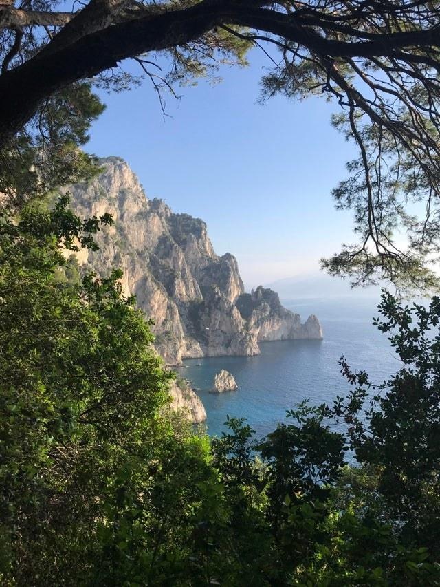 A morning hike on the island of Capri