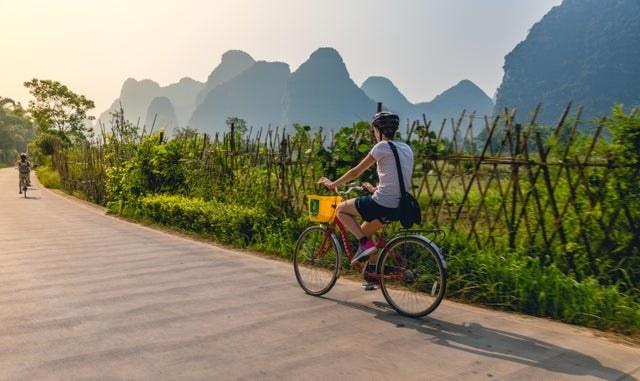 Bicycling through Yangshuo, China