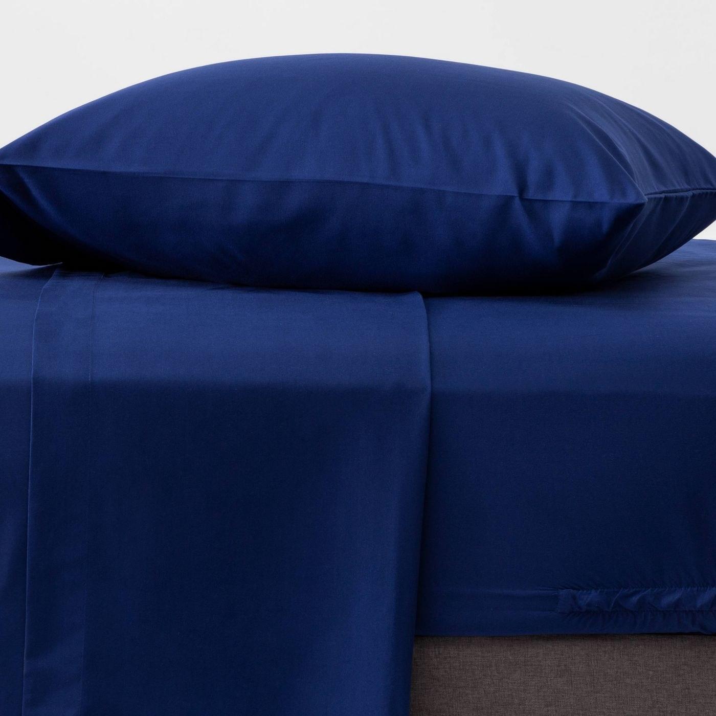 dark blue sheet set