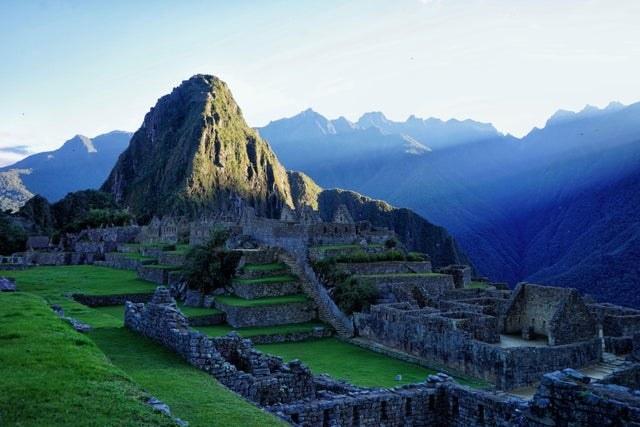 An empty view of Machu Picchu