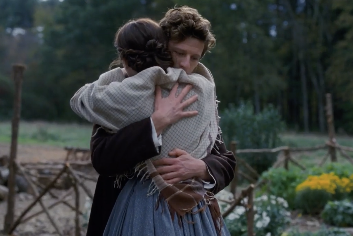 James Norton and Emma Watson embracing in LIttle Women