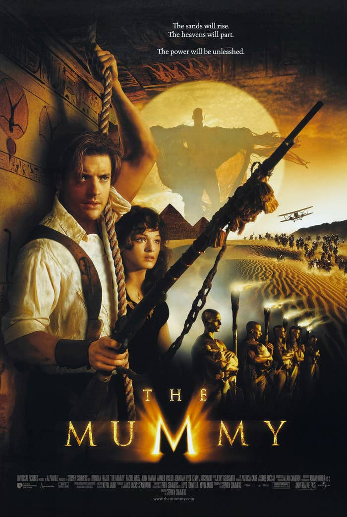 The Mummy movie poster featuring a collage of images from the movie