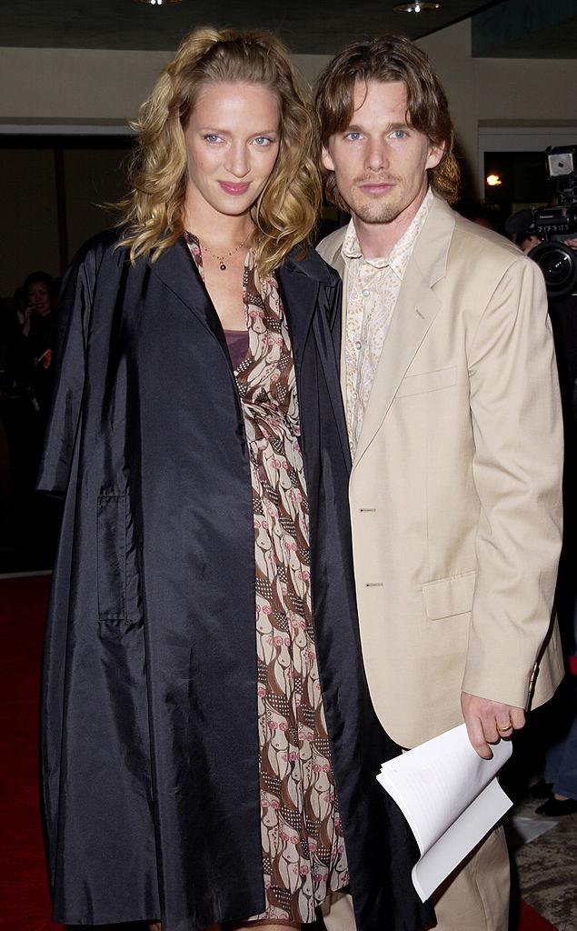 Uma Thurman and Ethan Hawke as a couple
