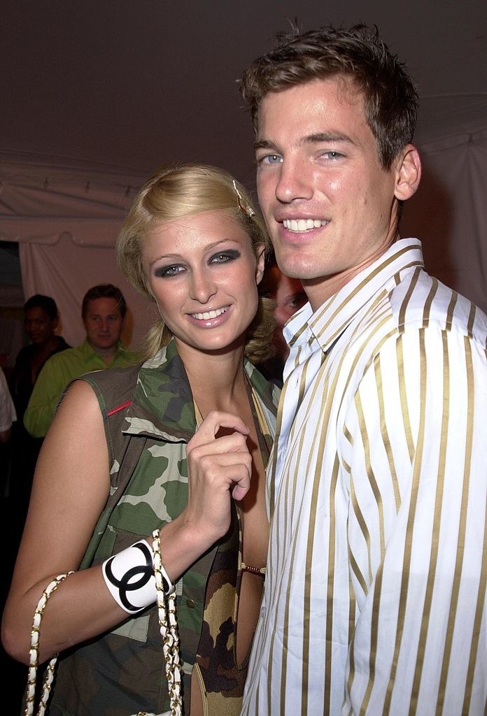 Paris Hilton and Jason Shaw on a red carpet
