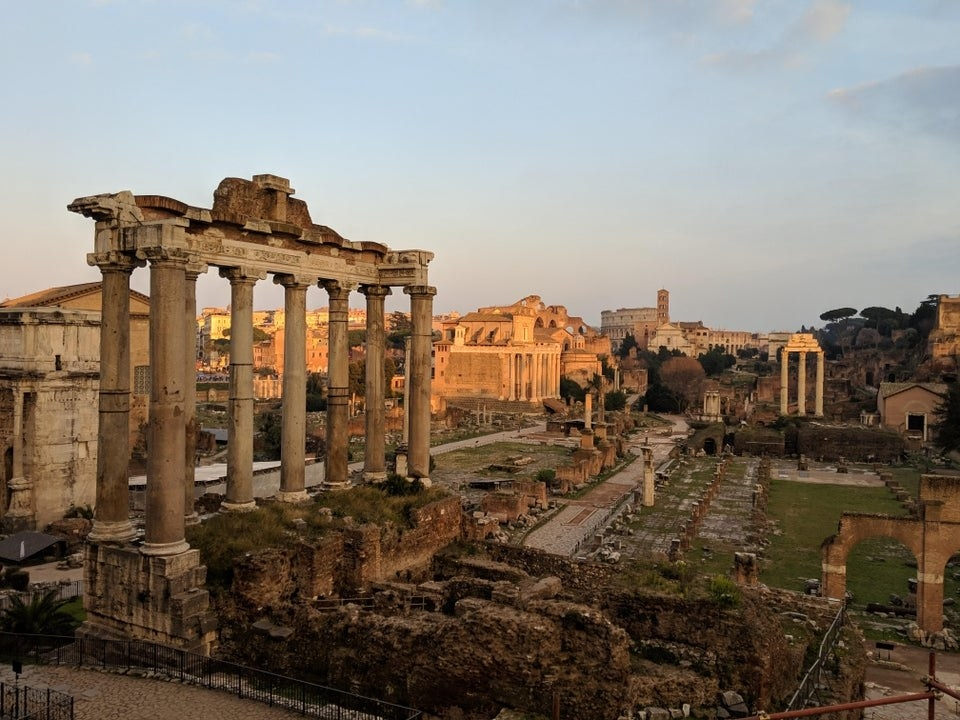 The ancient city in Rome without other tourists