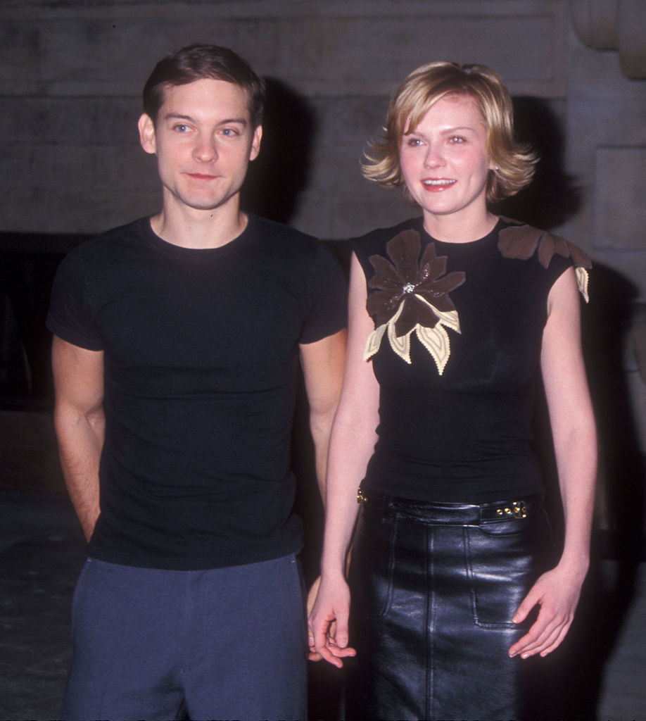 Tobey Maguire and Kirsten Dunst smiling together