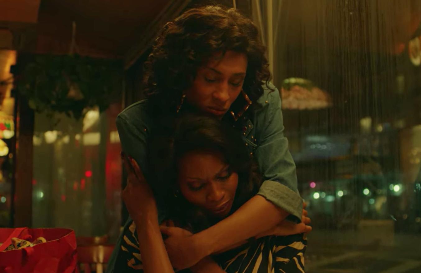 Blanca Evangelista and Elektra Abundance hugging