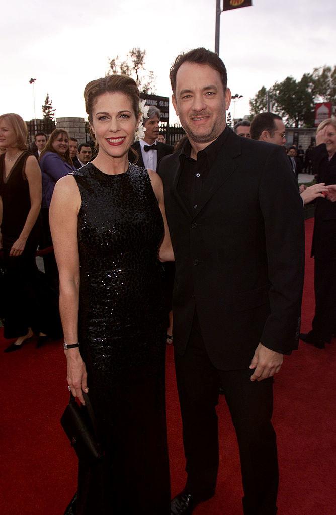 Rita Wilson and husband Tom Hanks at the Screen Actors Guild awards