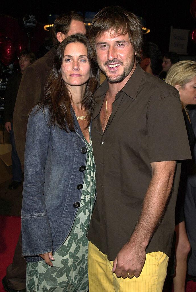 Courteney Cox and David Arquette at a Stuff magazine party